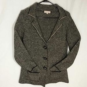 Cocogio Italy wool blend thick warm sweater jacket